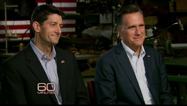 Romney Ryan 60 Minutes Video: The Romney and Ryan 60 Minutes Interview