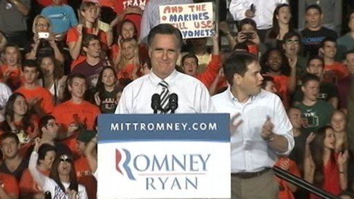 Romney campaigning Oct 31 2012