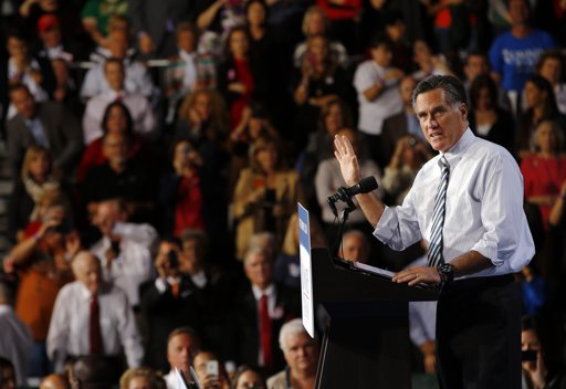 Romney campaigning